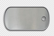 Blank Metal Dog Tag Isolated O...