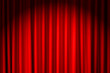 canvas print picture - closed red velvet curtain - use for background
