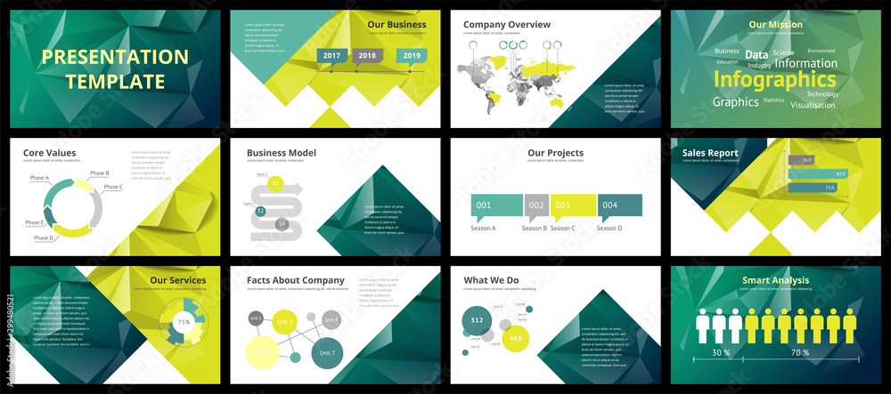 Fototapety, obrazy: Business presentation templates