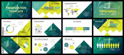 Business presentation templates Canvas-taulu