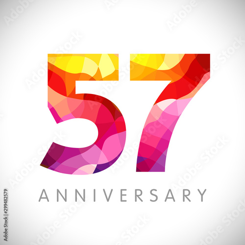 57 th anniversary numbers Canvas Print