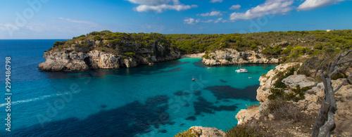 Spoed Foto op Canvas Groen blauw Calas de Menorca