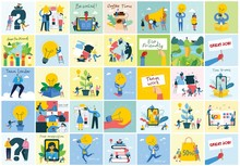 Bundle Of Cartoon Men And Women Performing Outdoor Activities On City Street. Flat Colorful Vector Illustration People Walking, Disabled People, Standing, Talking, Running, Jumping, Sitting, Dancing