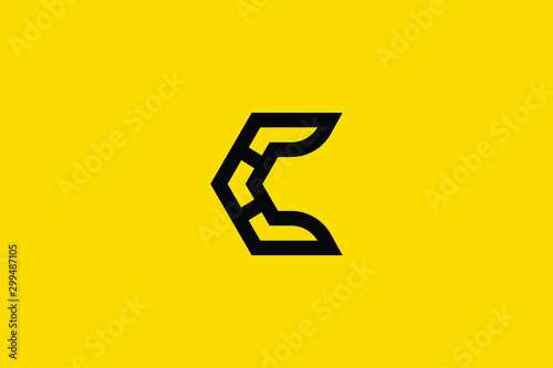 Canvastavla  Creative Innovative Initial Letter logo C CC