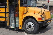 School Bus In The Parking Lot