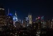 Night view of Midtown Manhattan and Hell's Kitchen
