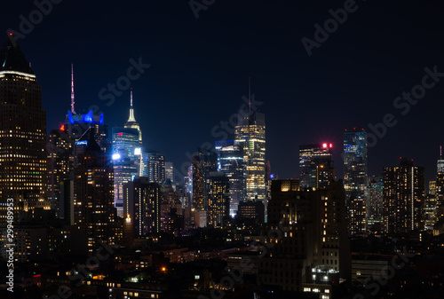 Fototapety, obrazy: Night view of Midtown Manhattan and Hell's Kitchen