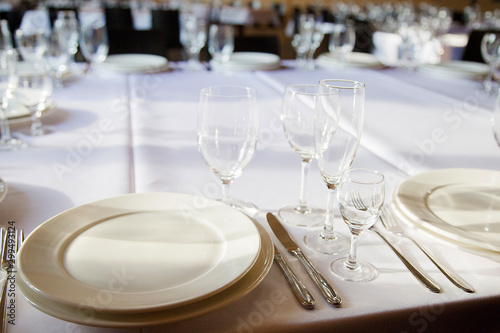 Photo served tables ready for guests