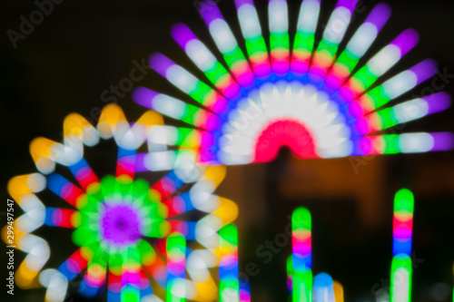 Abstract background of bright multicolor unusual bokeh saturated colors design Wallpaper Mural