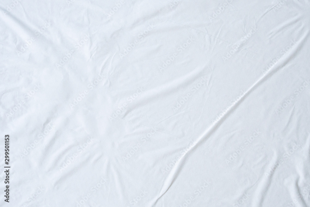 Fotografie, Obraz Blank white crumpled and creased paper poster texture background