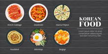 Haemul Pajeon,ddukbokki,kimchi...