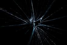 Broken Glass Dark Background