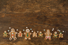 Row Of Gingerbread Cookies