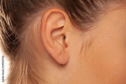 Close up of female ear Fototapet