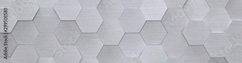 Obraz Hexagon Metal Background (Website Head) (3D Illustration) - fototapety do salonu