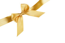 Christmas Gold Ribbon With Bow...