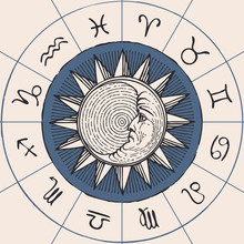 Vector Circle Of The Zodiac Si...