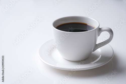 Foto op Aluminium Cafe cup of coffee isolated on white