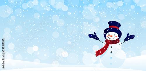 Obraz na plátně Merry Christmas greeting card with copy space