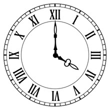 Clock Face Vector Icon