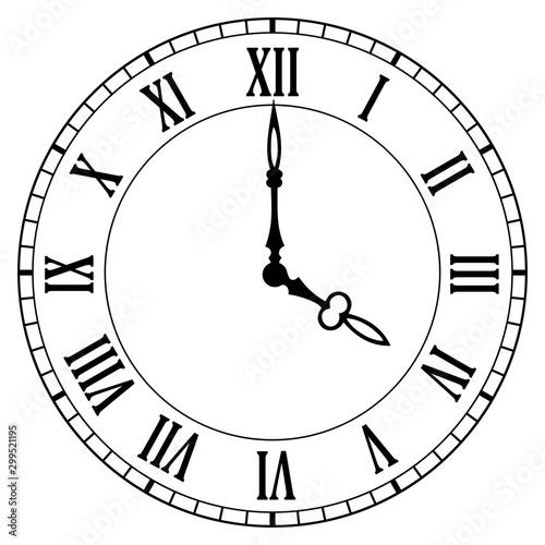 Obraz na plátně Clock face vector icon