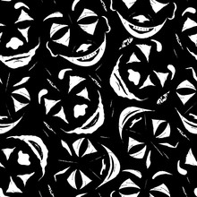 Seamless Pattern With Faces Of...