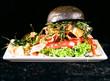 canvas print picture - Hamburger schwarz