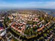 Pułtusk, widok na miasto z lotu ptaka