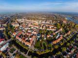 Fototapeta Miasto - Pułtusk, widok na miasto z lotu ptaka