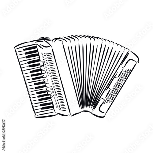Fotografía accordion isolated on white background