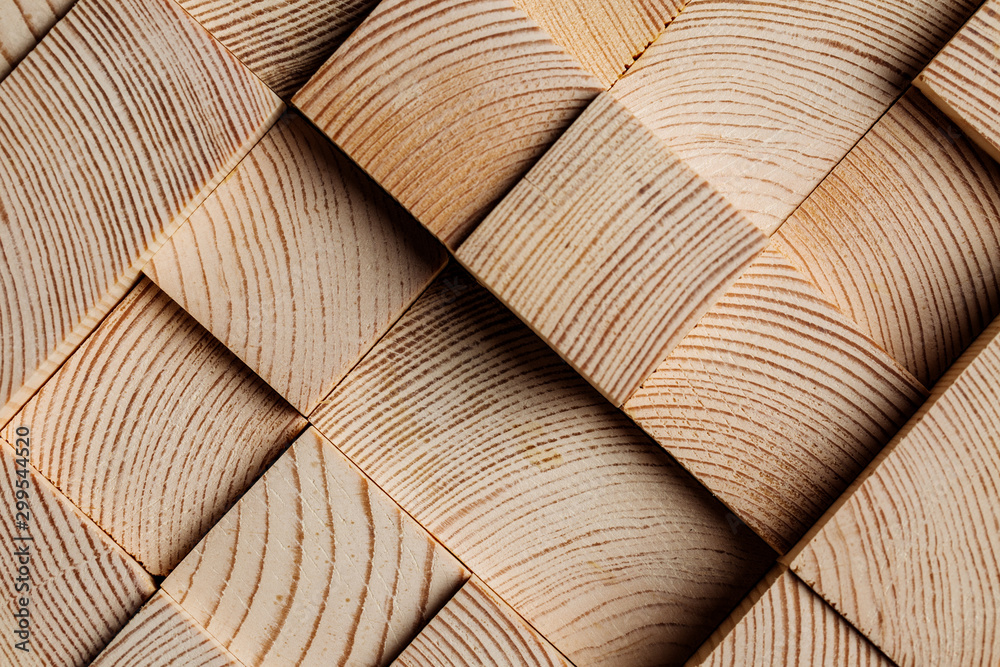 Fototapeta Background made of wooden cubes