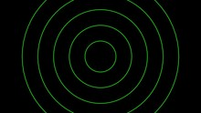 Animated Green Neon Circles Sp...