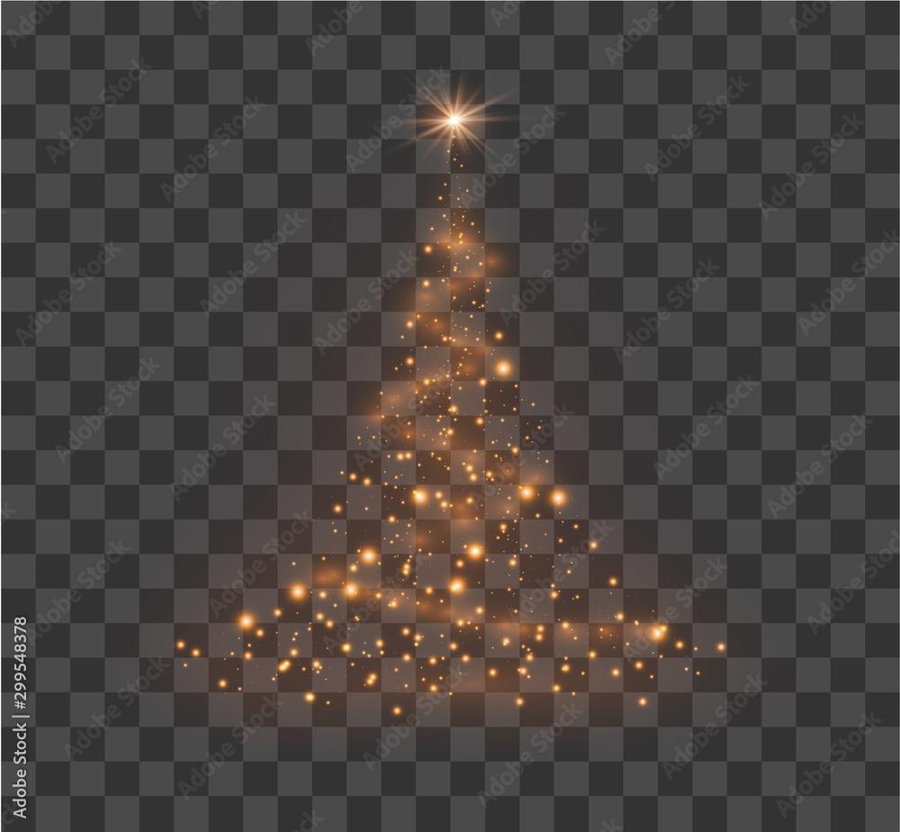 Fototapety, obrazy: Christmas festive tree