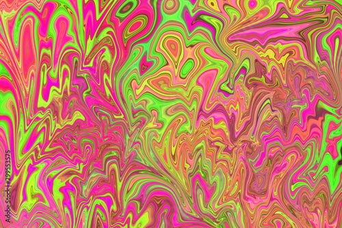 Photo An abstract psychedelic background image.