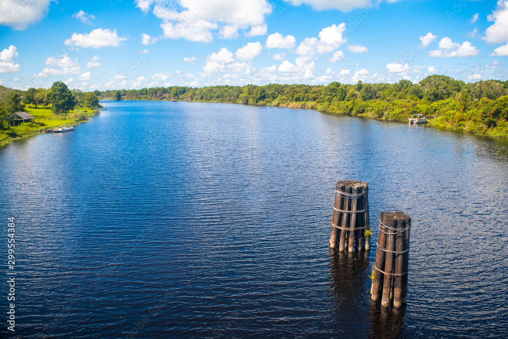 Fototapety, obrazy: River or waterway in Florida, USA