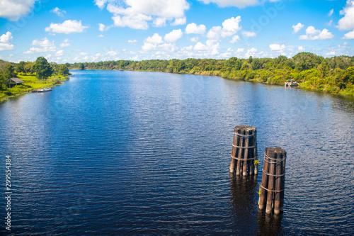Obraz River or waterway in Florida, USA - fototapety do salonu