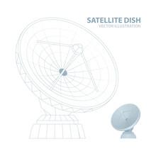 Satellite Dish. Mesh Line And ...