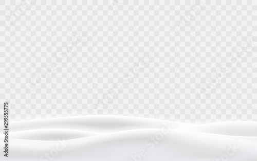 Snowy hills winter background. Landscape with snow covered hills. Vector illustration