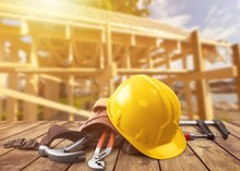 Yellow Hard Hat With Tools