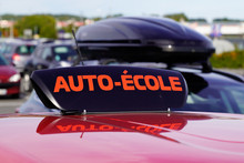 French Driving School City Car Roof Sign