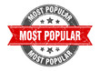 most popular round stamp with red ribbon. most popular