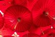 Leinwanddruck Bild - Red Umbrella Thailand