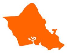 Karte Von Oahu