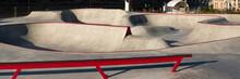 Skate Park With Concrete Bowl,...
