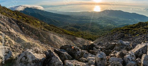 Boulders sunrise at Mt. Apo