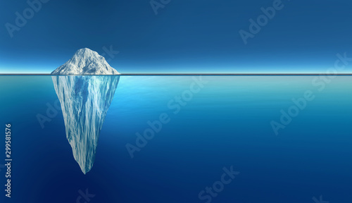 Iceberg extremely detailed and realistic high resolution 3d illustration Fototapeta
