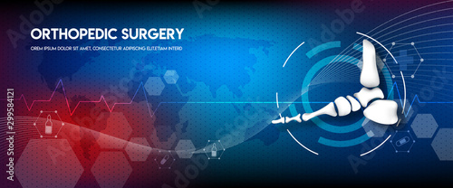 Medical orthopedic abstract background Wallpaper Mural