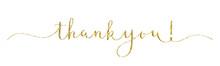 THANK YOU! Vector Gold Glitter...