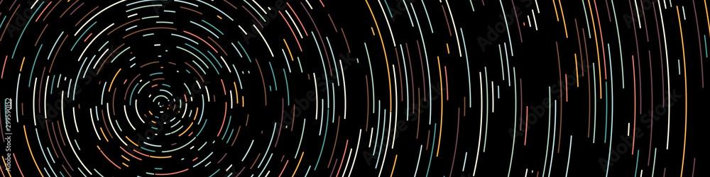 Fototapeta Colorful Universe Circular Distribution Computational Generative Art background illustration