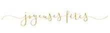 Calligraphie Vecteur Dorée JOYEUSES FETES